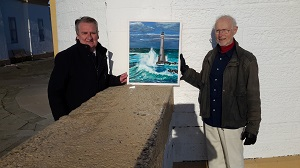 Donation of painting to Covesea Lighthouse